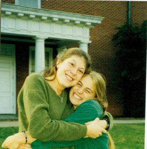 Alli and Kate: Guilford College 1997